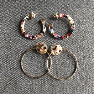 BAUBLEBAR Set of 2 Resin Earrings